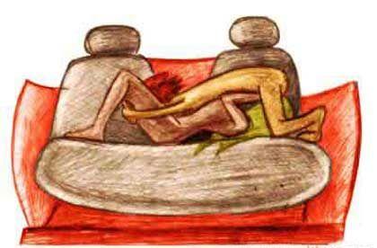 В сексе поза аездница