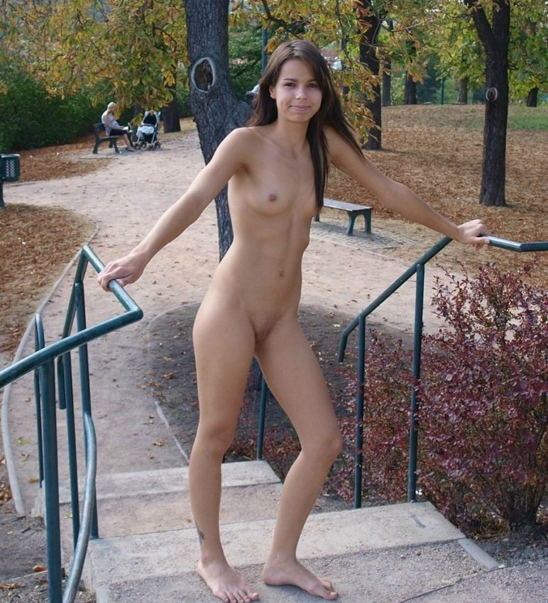 Red head dancing naked
