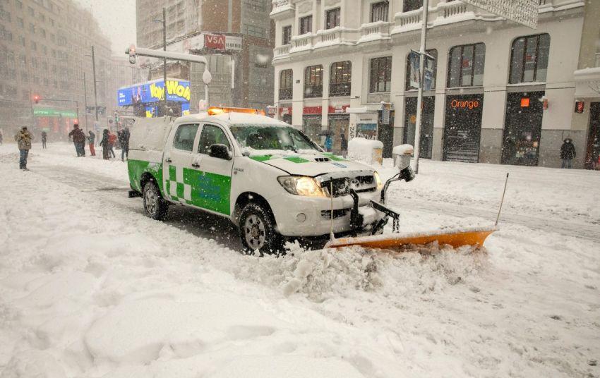 Sniegas Ispanijoje 1 nuotrauka
