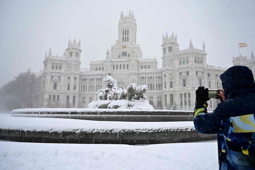 Sniegas Ispanijoje 2021 2 nuotrauka