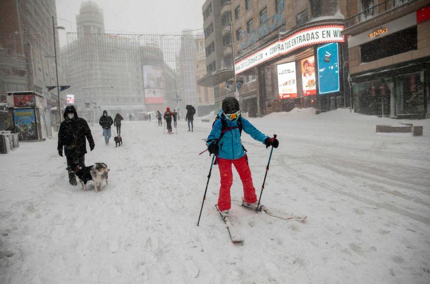 Sniegas Ispanijoje 2021 10 nuotrauka