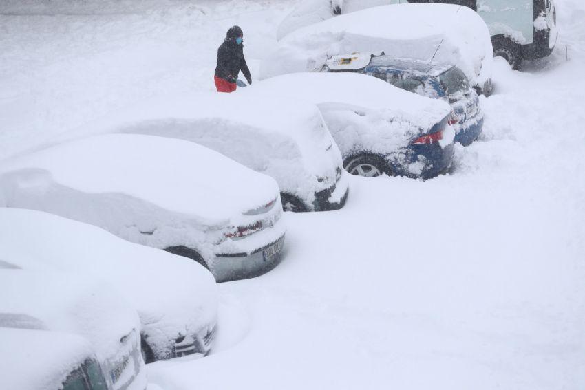 Sniegas Ispanijoje 2021 13 nuotrauka