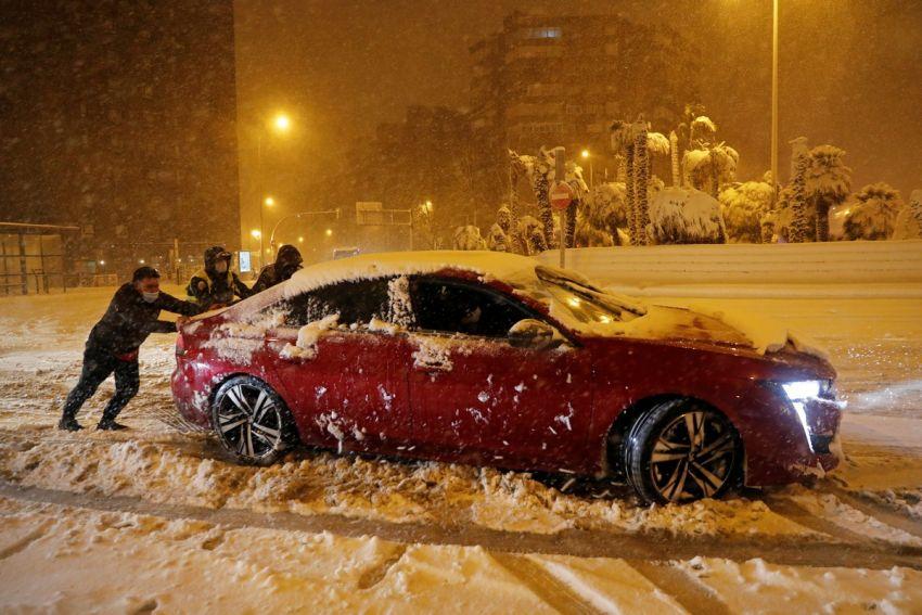 Sniegas Ispanijoje 2021 14 nuotrauka